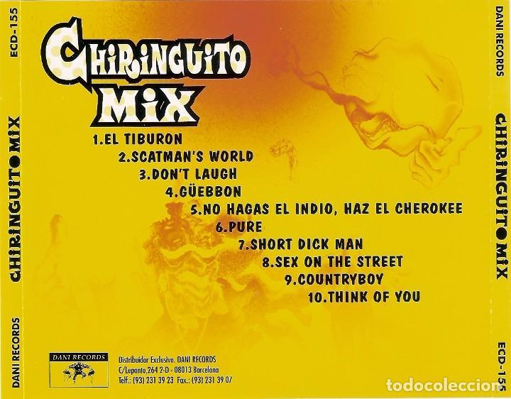 CDs de Música: CHIRINGUITO MIX (1995) Dani Records, S.L. ?– ECD-155 RARO Y DIFICIL - Foto 2 - 73888083