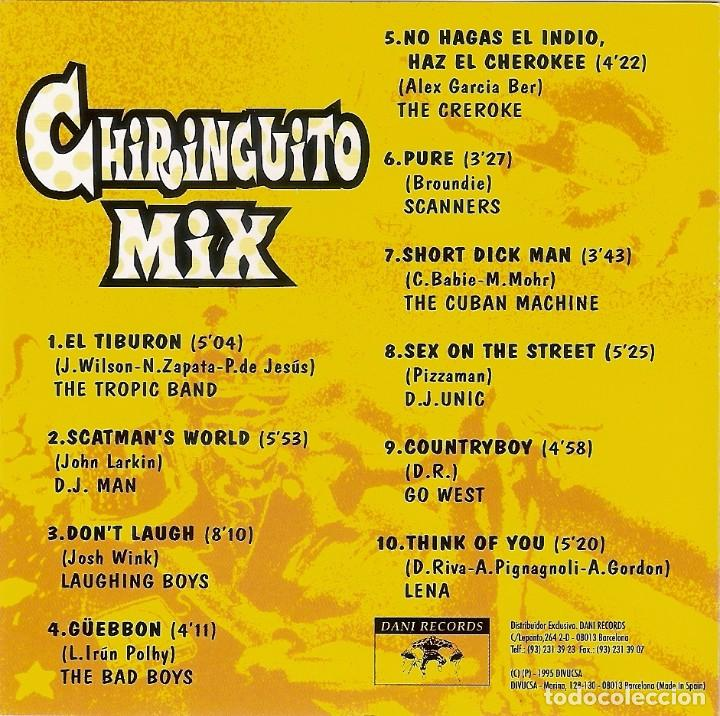 CDs de Música: CHIRINGUITO MIX (1995) Dani Records, S.L. ?– ECD-155 RARO Y DIFICIL - Foto 3 - 73888083