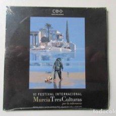 CDs de Música: PRECINTADO, CD CON LAS MÚSICAS DEL VI FESTIVAL INTERNACIONAL MURCIA TRES CULTURAS, AÑO 2005. Lote 73967403