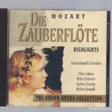 CDs de Música: MOZART - DIE ZAUBERFLÖTE (CD 1992, THE GRAND OPERA COLLECTION, SYMPHONY SYCD 6162 G). Lote 74000743