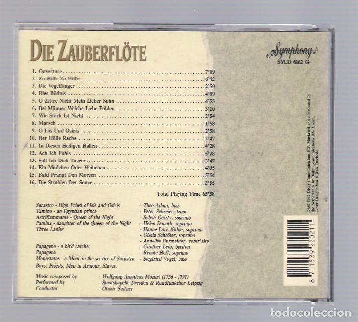 CDs de Música: MOZART - Die Zauberflöte (CD 1992, The Grand Opera Collection, Symphony SYCD 6162 G) - Foto 2 - 74000743