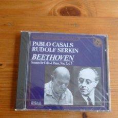 CDs de Música: PAU CASALS RUDOLF SERKIN. BEETHOVEN. SONATAS CELLO PIANO Nº 3,4,5 CBS 1989. Lote 74080435