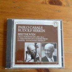 CDs de Música: PAU CASALS Y RUDOLF SERKIN. BEETHOVEN. CBS. 1991 PRECINTADO. Lote 74080907