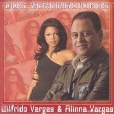 CDs de Música: WILFRIDO VARGAS & ALINNA VARGAS,DOS GENERACIONES DEL 2002. Lote 74479775