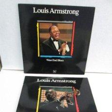 CDs de Música: LOUIS ARMSTRONG. CHICAGO CONCERT. WEST END BLUES. 2 LP,S. 2 DISCOS. CBS 1988. VER FOTOGRAFIAS.. Lote 74619723