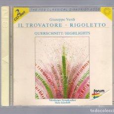 CDs de Música: VERDI - IL TROVATORE / RIGOLETTO (2CD THE NEW CLASSICAL DIMENSION 2000, FORUM CD2 462 028-2). Lote 75018559