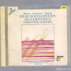 CDs de Música: MOZART, BEETHOVEN, ROSSINI - BERÜHMTE OPERN / OUVERTÜREN (2CD FORUM CD2 462 062-2). Lote 206540255