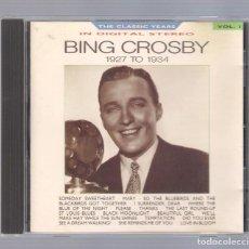 CDs de Música: BING CROSBY - BING CROSBY 1927 TO 1934 (CD 1986, BBC CD 648). Lote 75028779
