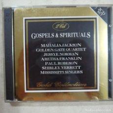 CDs de Música: GOSPELS & SPIRITUALS - MAHALIA JACKSON, GOLDEN GATE QUARTET Y OTROS - 2 CDS 1993 - MADE IN ITALY . Lote 75263247
