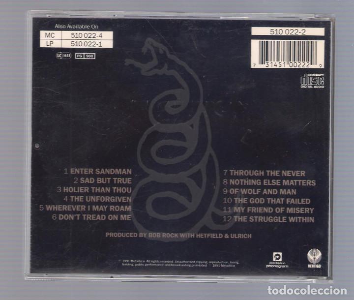 CDs de Música: METALLICA - Black Album (CD 1991, Vertigo 510 022-2) - Foto 2 - 75408331