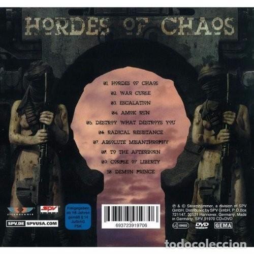 CDs de Música: KREATOR HORDES OF CHAOS EDICION ESPECIAL EN CAJA CD+DVD NUEVO PRECINTADO - Foto 3 - 75558395