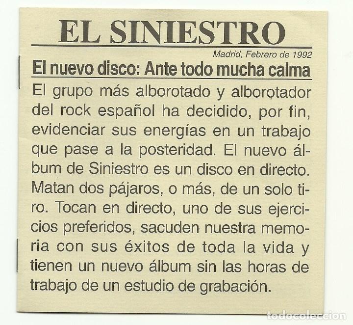 CDs de Música: SINIESTRO TOTAL. Ante todo mucha calma (Box-set 1992) - Foto 2 - 75623483