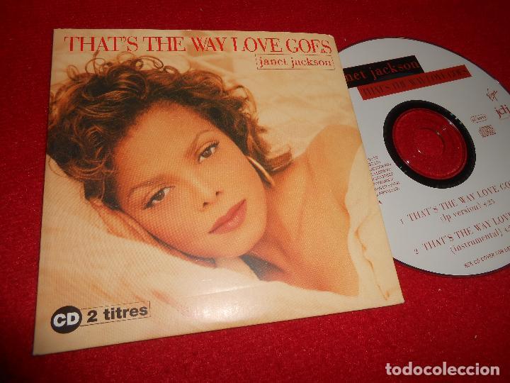 JANET JACKSON THATS THE WAY LOVE GOES CD SINGLE 1993 LP VERSION /  INSTRUMENTAL