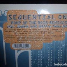 CDs de Música: DISCO. SEQUENTIAL ONE. PUMP UP THE BASS REMIXES INCL- GENERAL BASE MEETS DJ TROKA REMIX. Lote 75776351