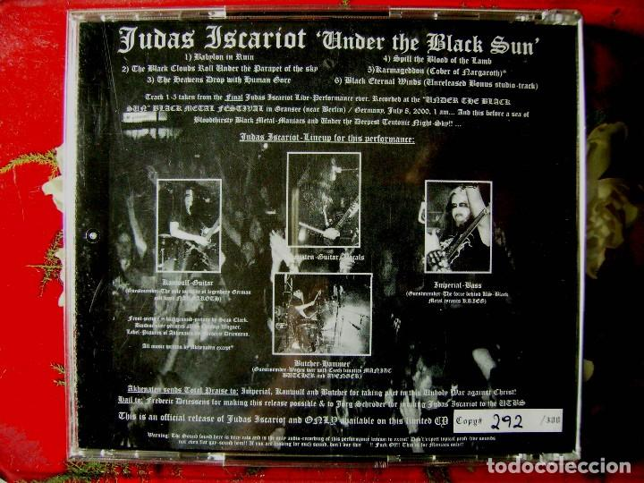 CDs de Música: JUDAS ISCARIOT.UNDER THE BLACK SUN..LIVE NO OFICIAL ED LIMITADA 300 COPIAS - Foto 2 - 75924387