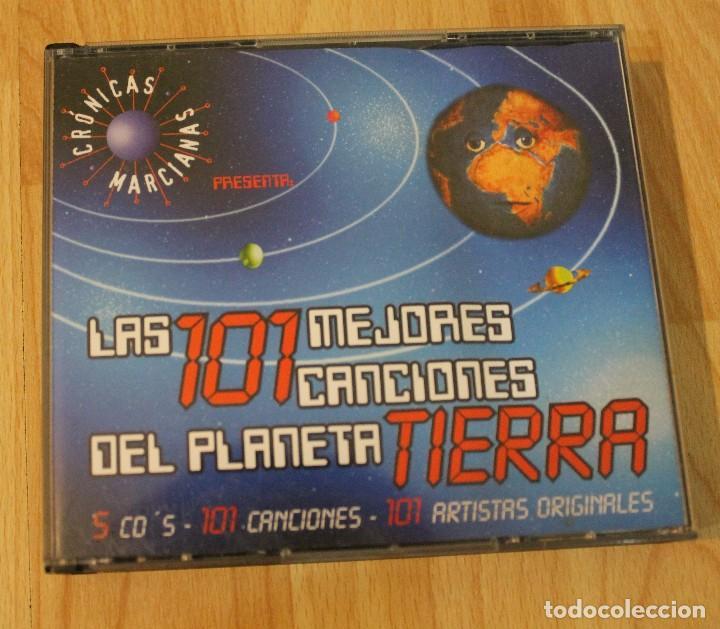 CD LAS 101 MEJORES CANCIONES DEL PLANETA TIERRA CRONICAS MARCIANAS 5 CDS (Música - CD's World Music)