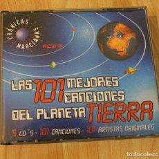 CDs de Música: CD LAS 101 MEJORES CANCIONES DEL PLANETA TIERRA CRONICAS MARCIANAS 5 CDS. Lote 76026127
