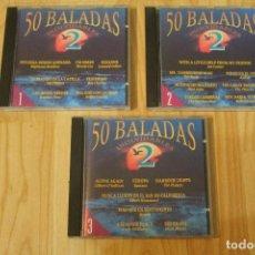 CDs de Música: LOTE 3 CD'S CD 50 BALADAS INOLVIDABLES 2. Lote 76155707