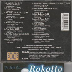 CDs de Música: ROKOTTO / THE BEST (CD PROMO STATE RECORDS 1996). Lote 185672267