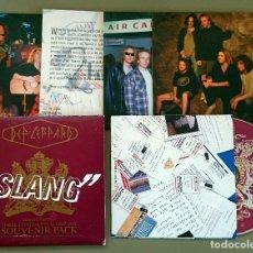 CDs de Música: DEF LEPPARD: SLANG. THREE CONTINENTS IN ONE DAY SOUVENIR PACK 1996, CD SINGLE LTD MERCURY 852 967-2.. Lote 76585863