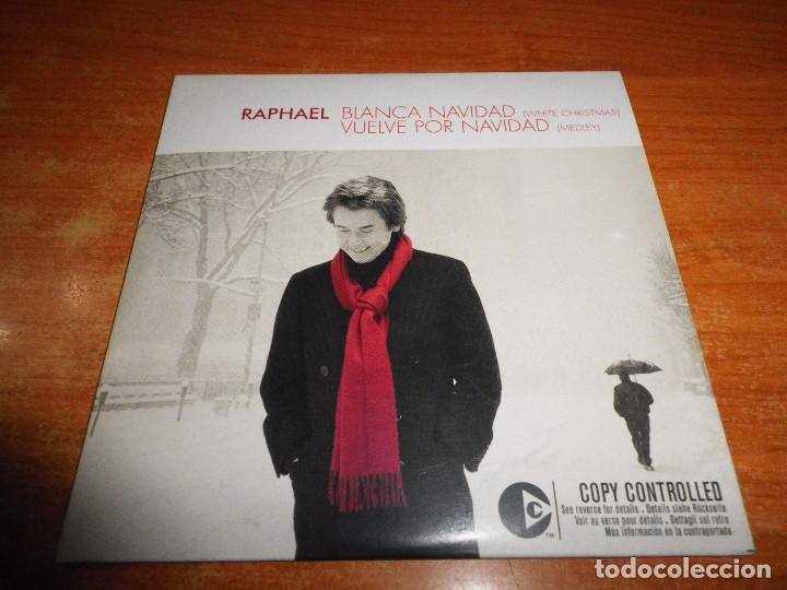 RAPHAEL BLANCA NAVIDAD / VUELVE POR NAVIDAD (MEDLEY) CD SINGLE PROMO CARTON SOLO 200 UNIDADES RARO (Música - CD's Melódica )