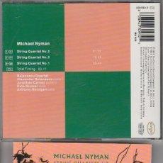 CDs de Música: MICHAEL NYMAN / QUARTETS 1-3 (CD DECCA RECORDS 1991). Lote 76700631