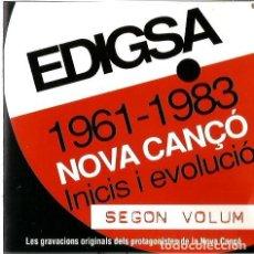 CDs de Música: DOBLE CD EDIGSA NOVA CANÇO INICIS I EVOLUCIÓ - SEGON VOLUM (ELS XERRACS, ELS CORBS, OM, TAPI, ARRELS. Lote 76723335