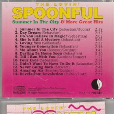 CDs de Música: THE LOVIN' SPOONFUL / SUMMER IN THE CITY & MORE GREAT HITS (CD PULSAR 1991). Lote 76731815