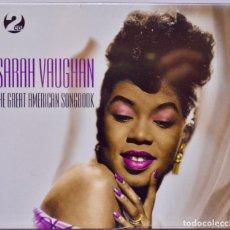 CDs de Música: SARAH VAUGHAN – THE GREAT AMERICAN SONGBOOK- JAZZ - RECOPILATORIO DE 2 CDS NUEVOS RETRACTILADOS.. Lote 76769295