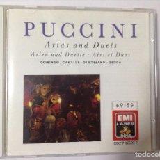 CDs de Música: PUCCINI. ARIAS AND DUETS. CABALLÉ, PLCIDO DOMINGO. GEDDA. Lote 76801647