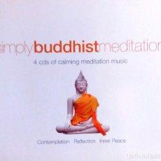 CDs de Música: REGALA MÚSICA *SIMPLY BUDDIHIST MEDITATION* -4 CDS-. Lote 76836535