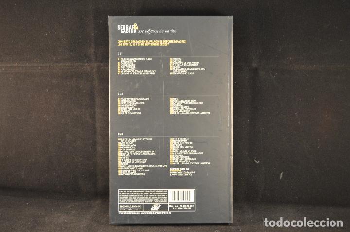 CDs de Música: SERRAT 6 SABINA - DOS PAJAROS DE UN TIRO - 2 CD´s + 1 DVD - Foto 3 - 76852215