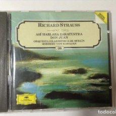 CDs de Música: STRAUSS DON JUAN. ASÍ HABLABA ZARATUSTRA. VON KARAJAN. Lote 77213749