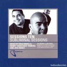 CDs de Música: DOBLE CD ALBUM: SESSIONS TEN - SUBLIMINAL SESSIONS - 25 TRACKS -DEFECTED RECORDS 2000. Lote 77410813
