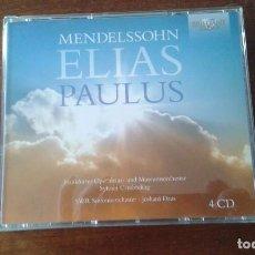 CDs de Música: MENDELSSOHN.. ELIAS PAULUS 4 CDS. Lote 77601057