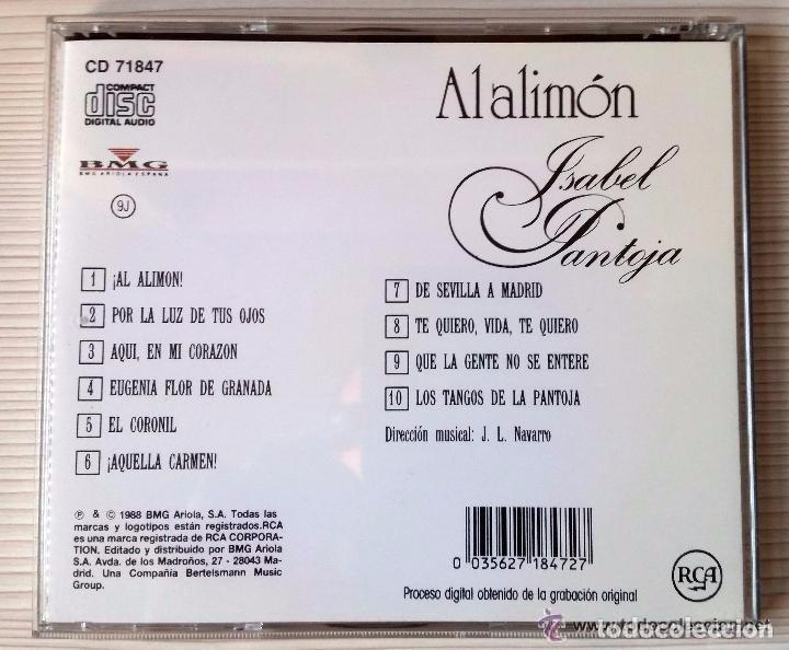 CDs de Música: ISABEL PANTOJA (AL ALIMÓN ) - Foto 2 - 154695264