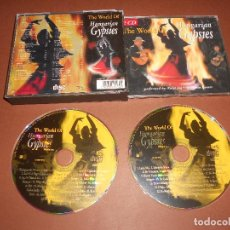 CDs de Música: THE WORLD OF HUNGARIAN GYPSIES -- 2 CD - 6223 - PERFORMED BY KALI JAG - APOLLONIA KOVACS. Lote 78049117