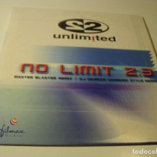CDs de Música: RAR PROMO CD SINGLE. UNLIMITED. NO LIMIT. 2.3. ITALO DANCE. Lote 78064493