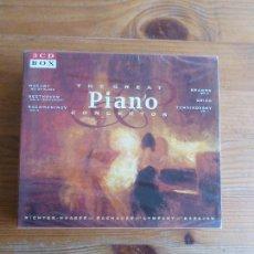 CDs de Música: THE GREAT PIANO I CONCIERTOS. BEETHOVEN MOZART BRAHMAS RACHMANINOV 3CD 3 BOX. Lote 78395613