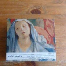 CDs de Música: STABAT MATER PERGOLESI SCARLATTI VIVALDI ROSINI OPUS 111 5CDS EN COFRE 2002. Lote 78396657