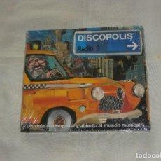 CDs de Música: DISCOPOLIS RADIO 3 CD UN VIAJE COSMOPOLITA Y ABIERTO AL MUNDO DE LA MUSICA (2002) MUEVO PRECINTADO. Lote 78436733