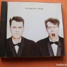 CDs de Música: PET SHOP BOYS - ACTUALLY - CD PARLOPHONE COMO NUEVO¡¡. Lote 78648425