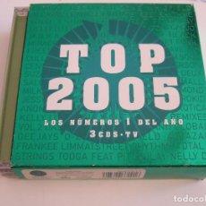 CDs de Música: 3 CD'S TOP 2005 - LOS NUMEROS 1 DEL AÑO - 50 TEMAS. Lote 78998441
