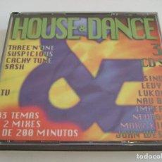 CDs de Música: 3 CD'S HOUSE & DANCE - 43 TEMAS+2 MIXES - MAS DE 200 MINUTOS - 1997. Lote 78999269