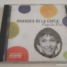 CDs de Música: CD GRANDES DE LA COPLA - PAQUITA RICO - 16 TEMAS - PRECINTADO. Lote 78999997