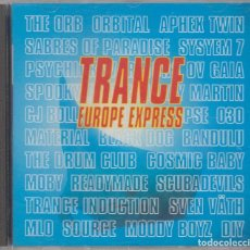 CDs de Música: TRANCE EUROPE EXPRESS DOBLE CD THE ORB ORBITAL APHEX TWIN SVEN VATH MOBY 1993. Lote 79169153