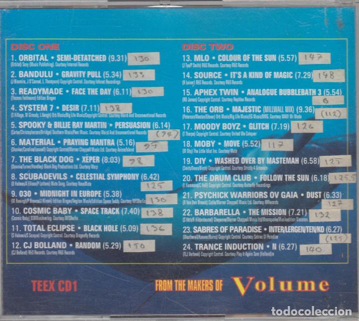 CDs de Música: Trance Europe Express doble cd The Orb Orbital Aphex Twin Sven Vath Moby 1993 - Foto 2 - 79169153