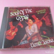 CDs de Música: CD-SOUL OF THE GYPSY-ELEMÉR JAROKA-PERFECTO-1989-12 TEMAS-NUEVO-VER FOTOS.. Lote 79358917