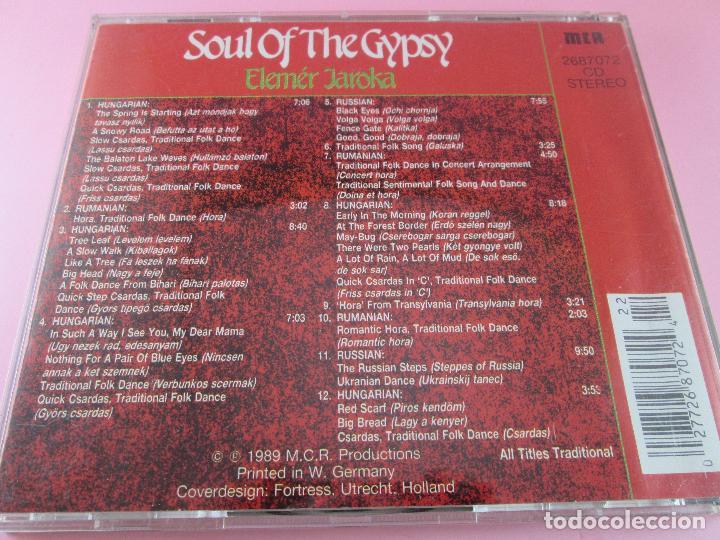 CDs de Música: cd-soul of the gypsy-elemér jaroka-perfecto-1989-12 temas-nuevo-ver fotos. - Foto 7 - 79358917