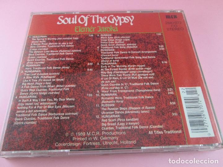 CDs de Música: cd-soul of the gypsy-elemér jaroka-perfecto-1989-12 temas-nuevo-ver fotos. - Foto 8 - 79358917